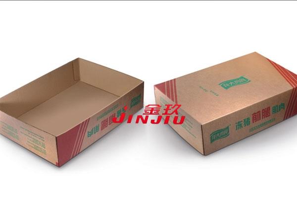 Samples of carton box of frozen pork